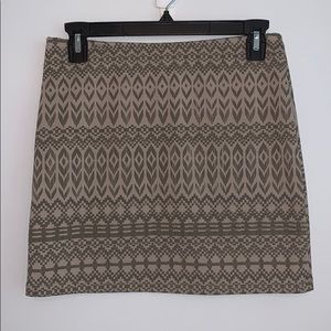 Aztec Pattern Mini Skirt